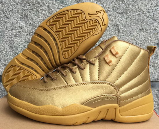Air Jordan Retro 12 All Gold Outlet Online